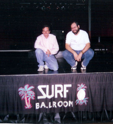 Onstage at the Surf